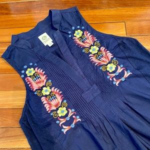 Anthropologie Tiny Embroidered Boho Top S